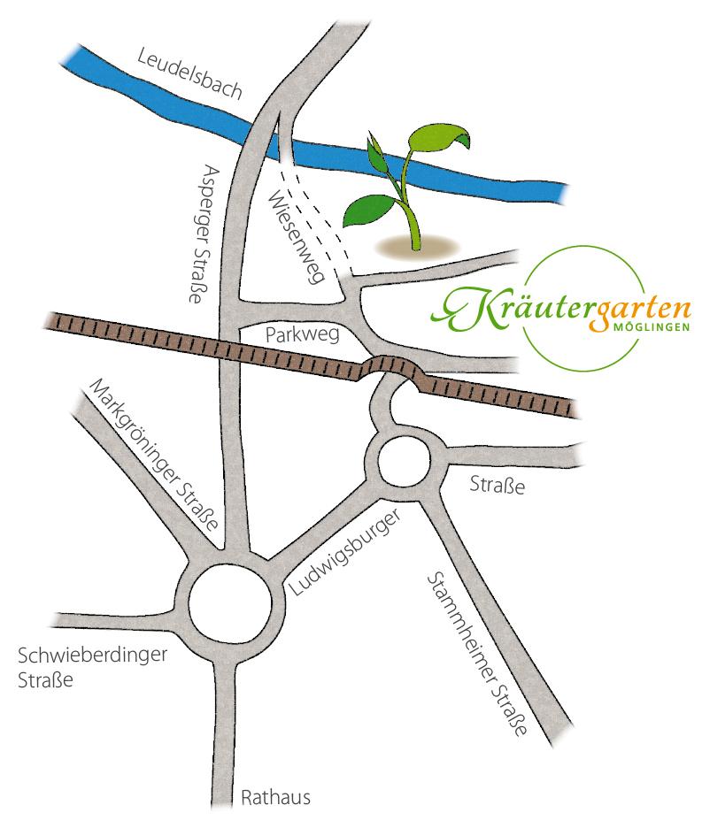 Anfahrt Kräutergarten Möglingen
